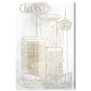 Oliver Gal 'Calgary Sketch' Canvas Art