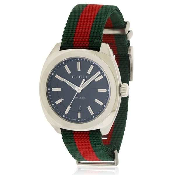 b60d28998a8 Shop Gucci Multicolored Nylon Stainless Men s Watch - Free Shipping Today -  Overstock - 17214065