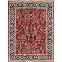 Noori Rug Aria Fine Chobi Janan Red/Blue Rug - 8'8 x 11'8