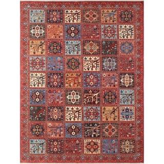 Noori Rug Aria Fine Chobi Qurban Rusty-Red/Blue Rug - 8'11 x 11'10