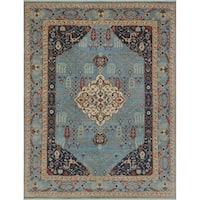 Noori Rug Aria Fine Chobi Rayhana Blue/Ivory Rug - 8'9 x 11'8
