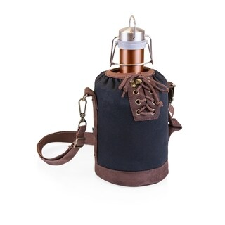 LEGACY® Insulated Black & Brown Growler Tote with 64-oz. Copper Stainless Steel Growler