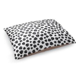 Kavka Designs Black/White Jagged Spots Black Pet Bed