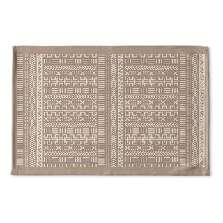 Kavka Designs Beige/White Lasha Beige Flat Weave Bath mat (2' x 3')