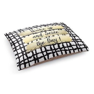 Kavka Designs Gold/Black/White Wake Up And Sieze The Day Pet Bed