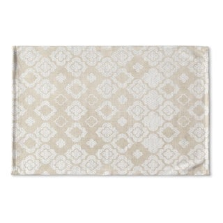 Kavka Designs Ivory Tunis Flat Weave Bath mat (2' x 3')
