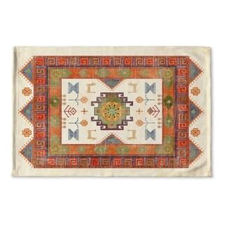 Kavka Designs Ivory/Green/Red Oma Ivory Flat Weave Bath mat (2' x 3')
