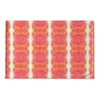 Kavka Designs Pink/Orange Sidra Flat Weave Bath mat (2' x 3')