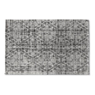 Kavka Designs Grey Medallon Grey Flat Weave Bath mat (2' x 3')
