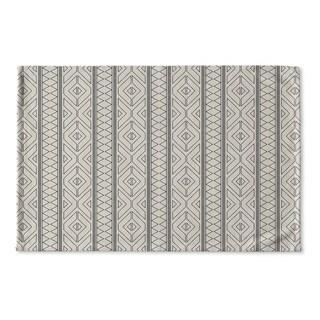 Kavka Designs Black/Grey Marrakesh Grey Flat Weave Bath mat (2' x 3')