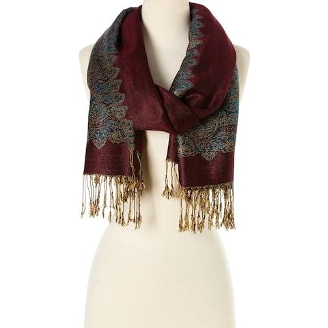 Stylish and Fashionable Winter Women's Scarf and Pashmina (Maroon) - Large