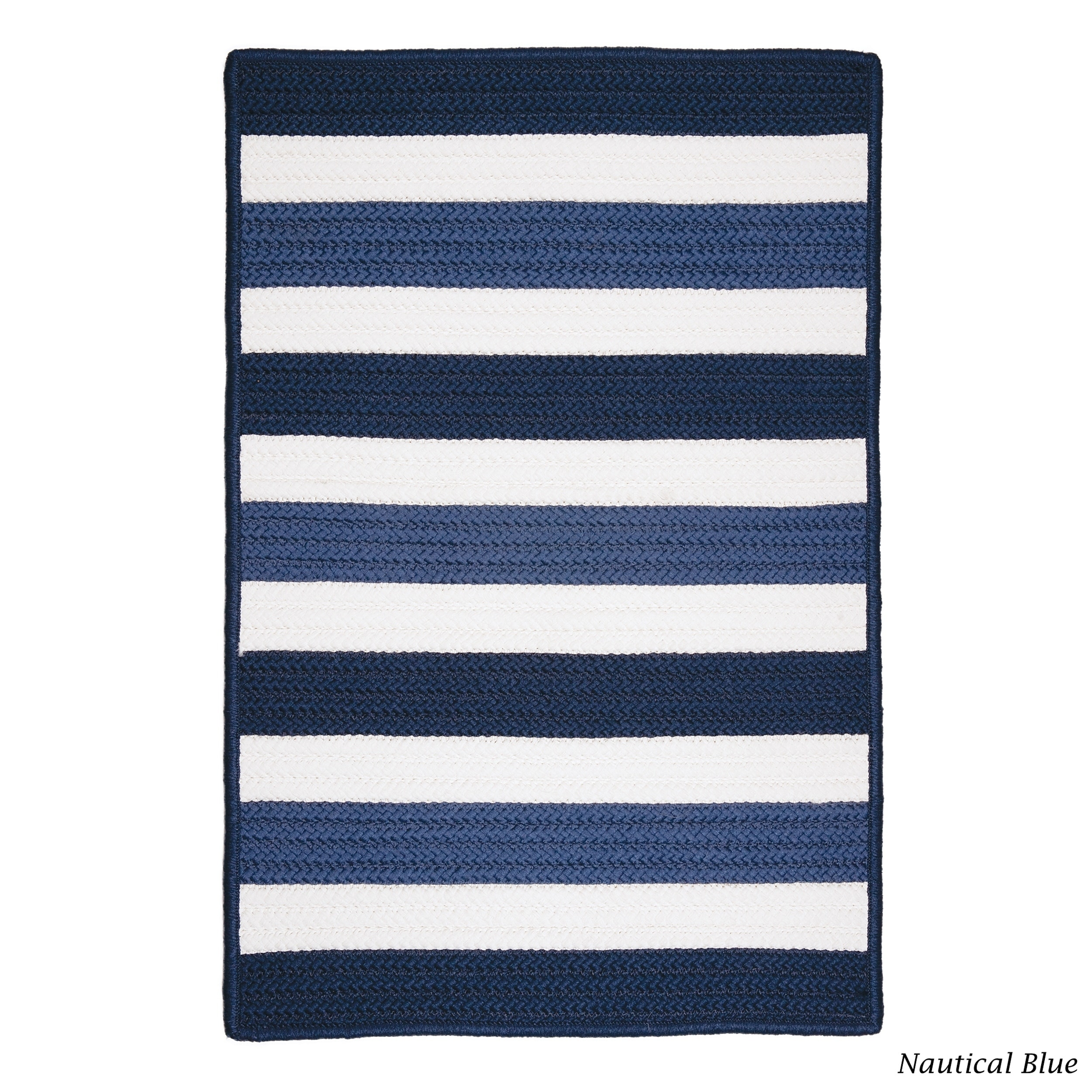 Colonial Mills Indoor/Outdoor Braided Texture Stripe Rug ...