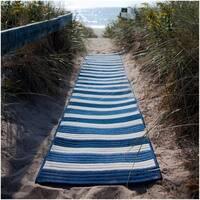 Indoor/Outdoor Braided Texture Stripe Rug (7' x 9')