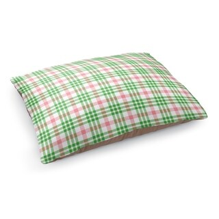 Kavka Designs Red/Green candy cane plaid Pet Bed By Northern Whimsy