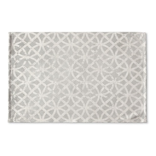 Kavka Designs Grey Ellsha Gray Flat Weave Bath mat (2' x 3')