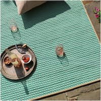 Point Twist Indoor/Outdoor Texturized Reversible Rug