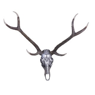 Hobbitholeco 36-inch x 36-inch x 2-inch Deer Skull Wall Sculpture