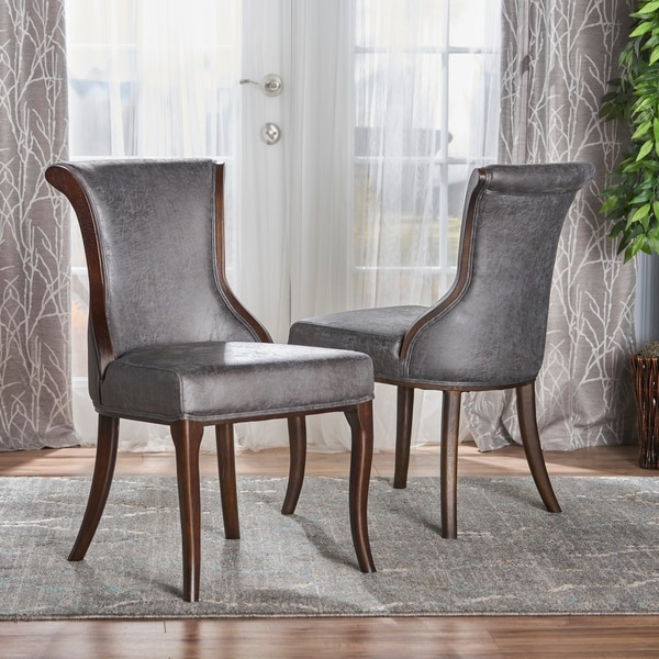 Lexia Microfiber Dining Chair (Set of 2) by Christopher Knight Home. Opens flyout.