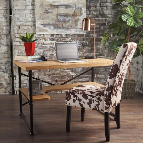 Gaspard Industrial Wood Desk by Christopher Knight Home