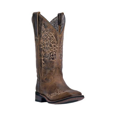 Women's Laredo Ivy Cowgirl Boot 5677 Taupe Leather