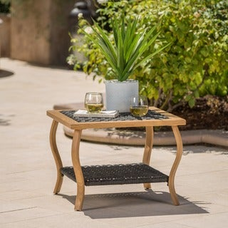 San Luis Outdoor Wicker Square Coffee Table by Christopher Knight Home