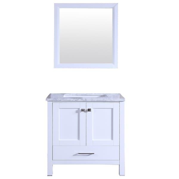 Shop Totti Shaker 30 Quot Transitional White Bathroom Vanity