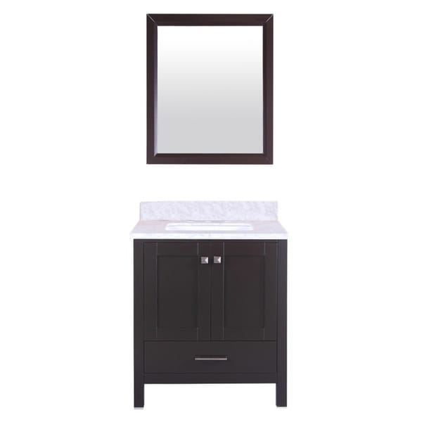 "Totti Shaker 30"" Transitional Espresso Bathroom Vanity"