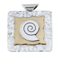 Kele & Co Two Tone .925 Sterling Silver Pendant (chain not included)