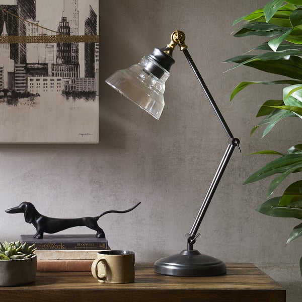 INK+IVY Renton Bronze Adjustable Task Lamp