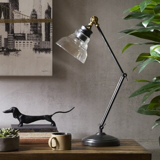 INK+IVY Renton Bronze Adjustable Task Lamp