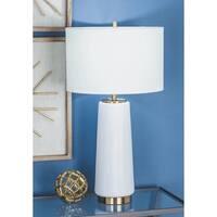 Urban Designs White Ceramic 26-inch Table Lamp (Set of 2)