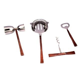 INOX Celia Design 4-piece Copper Antiq Bar Tool Set