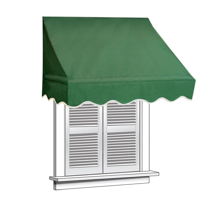 low cost b1518 f66af ALEKO 4 feet X 2 feet Window Awning Door Canopy Sun Rain Shade Shelter