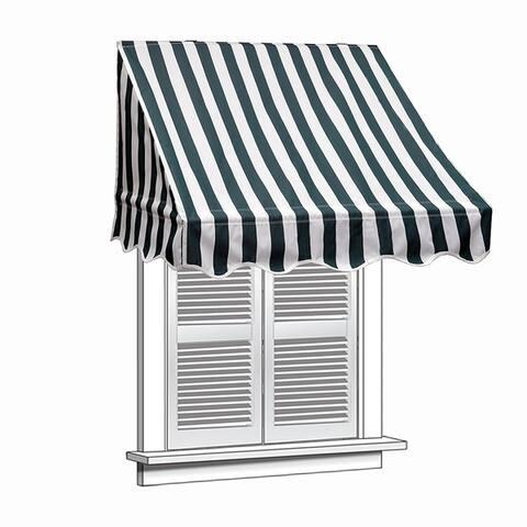 ALEKO 4 feet X 2 feet Window Awning Door Canopy Sun Rain Shade Shelter