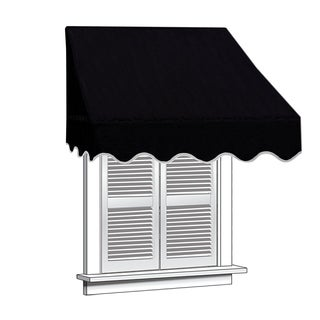 ALEKO 4 feet X 2 feet Window Awning Door Canopy Sun Rain Shade Shelter (Option: Burgundy)