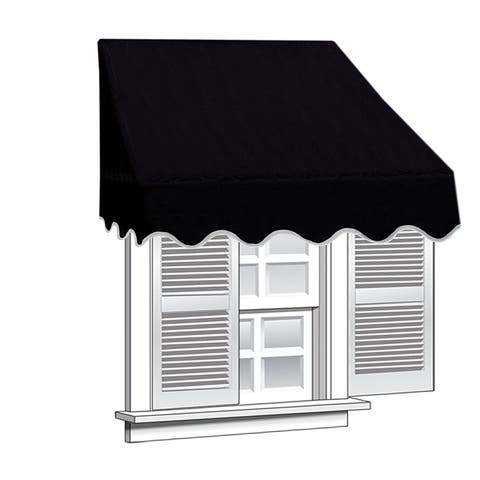 Aleko 6 Feet X 2 Window Awning Door Canopy Sun Rain Shade Shelter