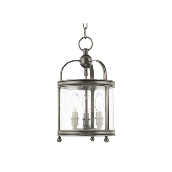 Hudson Valley Larchmont Historic Nickel-finished Metal 3-light 16-inch Pendant