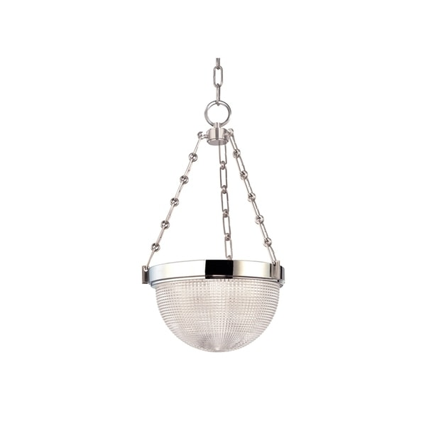 Hudson Valley Lighting Winfield Polished Nickel Metal 13-inch Pendant