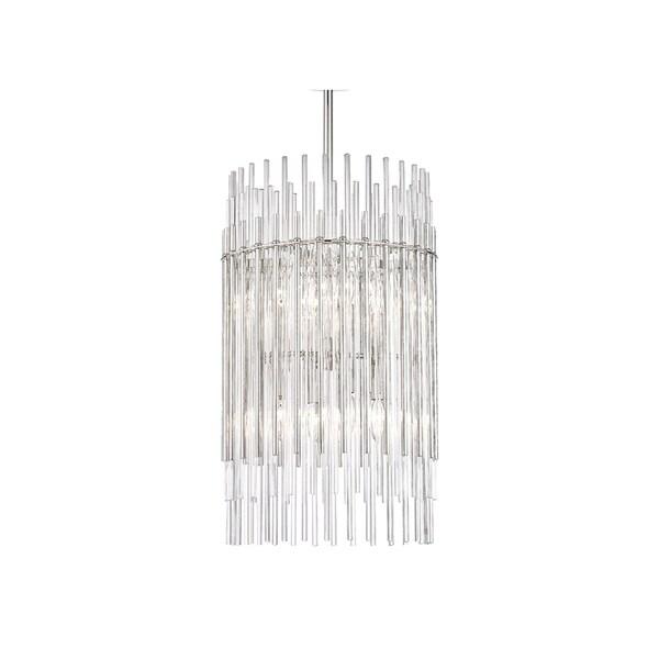 Hudson Valley Wallis Polished Nickel-finished Metal 15-inch 8-light Pendant