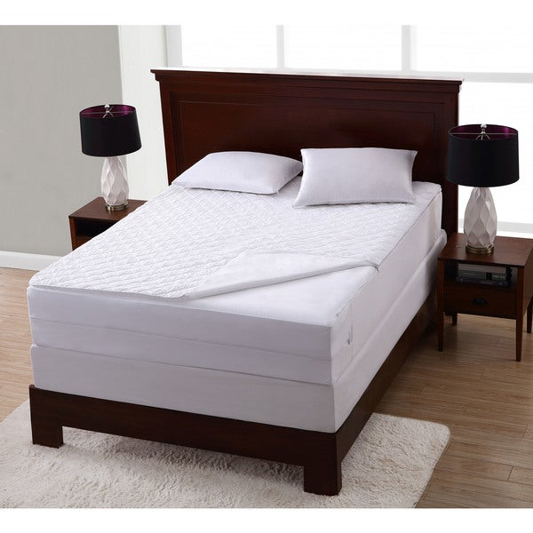 Wonder Pad Zip Off Mattress Protector - White