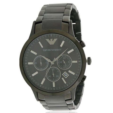 Emporio Armani Black Stainless Steel Chronograph Mens Watch