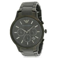 Emporio Armani Black Stainless Steel Chronograph Mens Watch AR2453