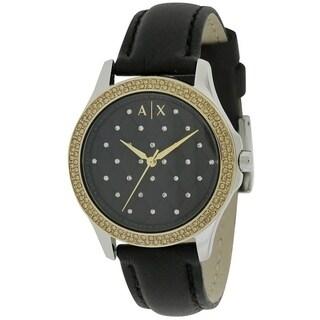 Armani Exchange Lady Hampton Leather Ladies Watch AX5246