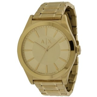 Armani Exchange Dress Gold-Tone Stainless Steel Mens Watch AX2321