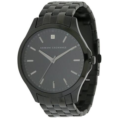 Armani Exchange Black Stainless Steel Mens Watch AX2159