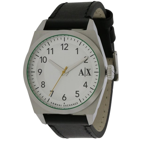 df0e026c7c59 Shop Armani Exchange Leather Mens Watch - Free Shipping Today -  Overstock.com - 17237806