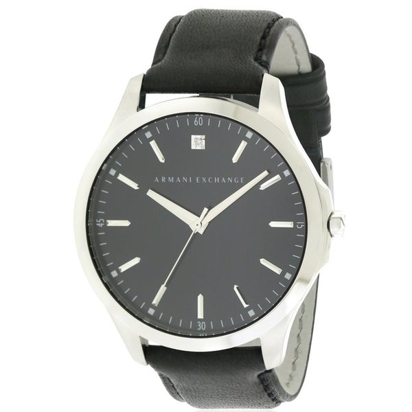 06ad9e88454b Shop Armani Exchange Leather Mens Watch - Free Shipping Today -  Overstock.com - 17237807