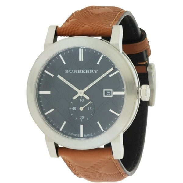 01f57946a030 Shop Burberry The City Leather Mens Watch - Free Shipping Today - Overstock  - 17237845