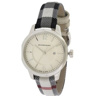 Burberry Stone Check Fabric Ladies Watch BU10103