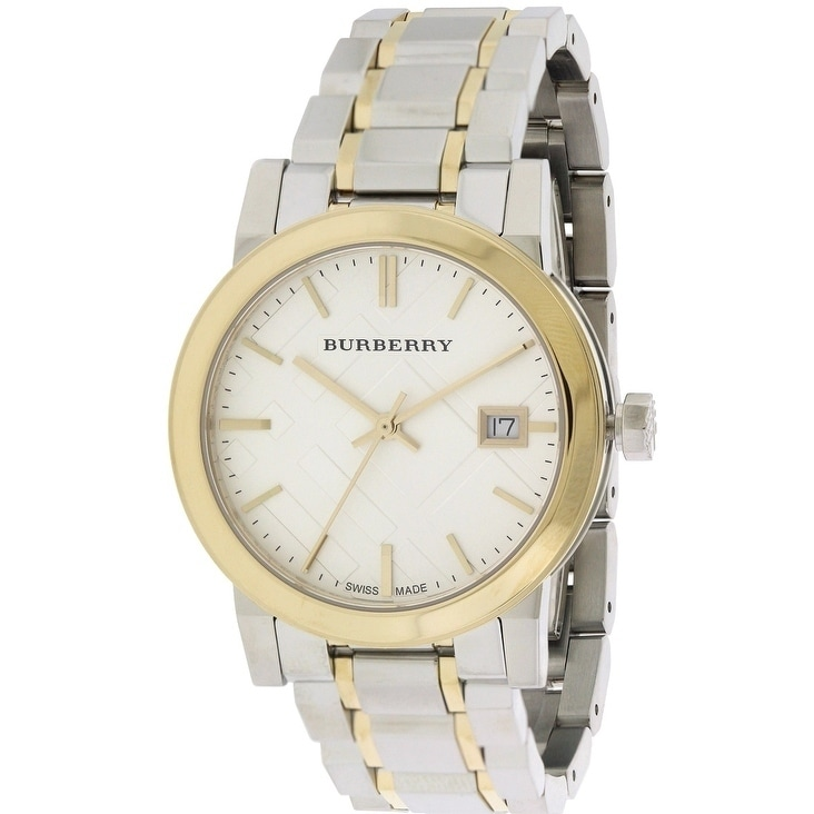 Burberrys Check Dial Two-Tone Ladies Watch BU9115, Clear,...